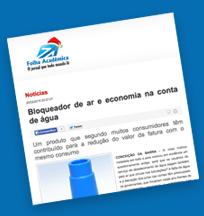 Aquamax no site folha acadêmica